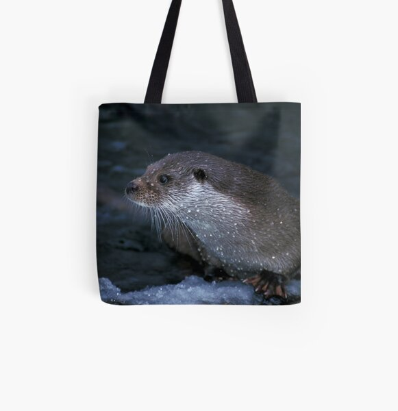 Portrait of an otter All Over Print Tote Bag