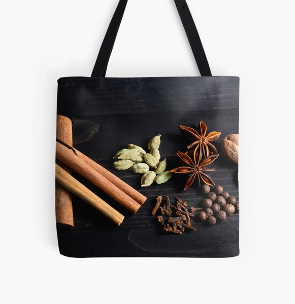 Aromatic Spice Mixture All Over Print Tote Bag