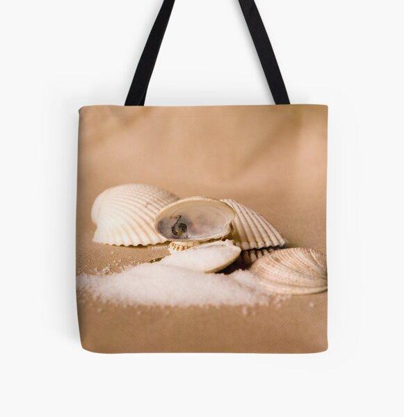 Sea Shells and Sea Salt All Over Print Tote Bag