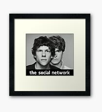 The Social Network Framed Print