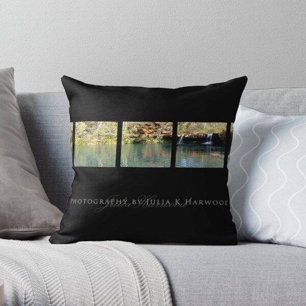 Fern Pool on Black ~ Signature Series Throw Pillow