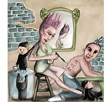 The Artist and the Elves Photographic Print