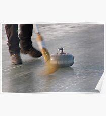 Curling Motion at Lake Idaburn, Central Otago Poster