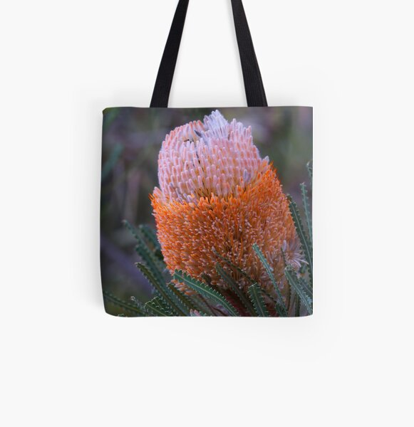Banksia hookeriana  All Over Print Tote Bag