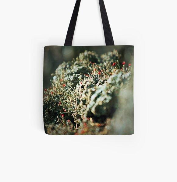 Lichen Bokeh All Over Print Tote Bag