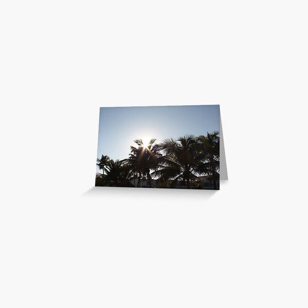 The Sun through Shadows Greeting Card