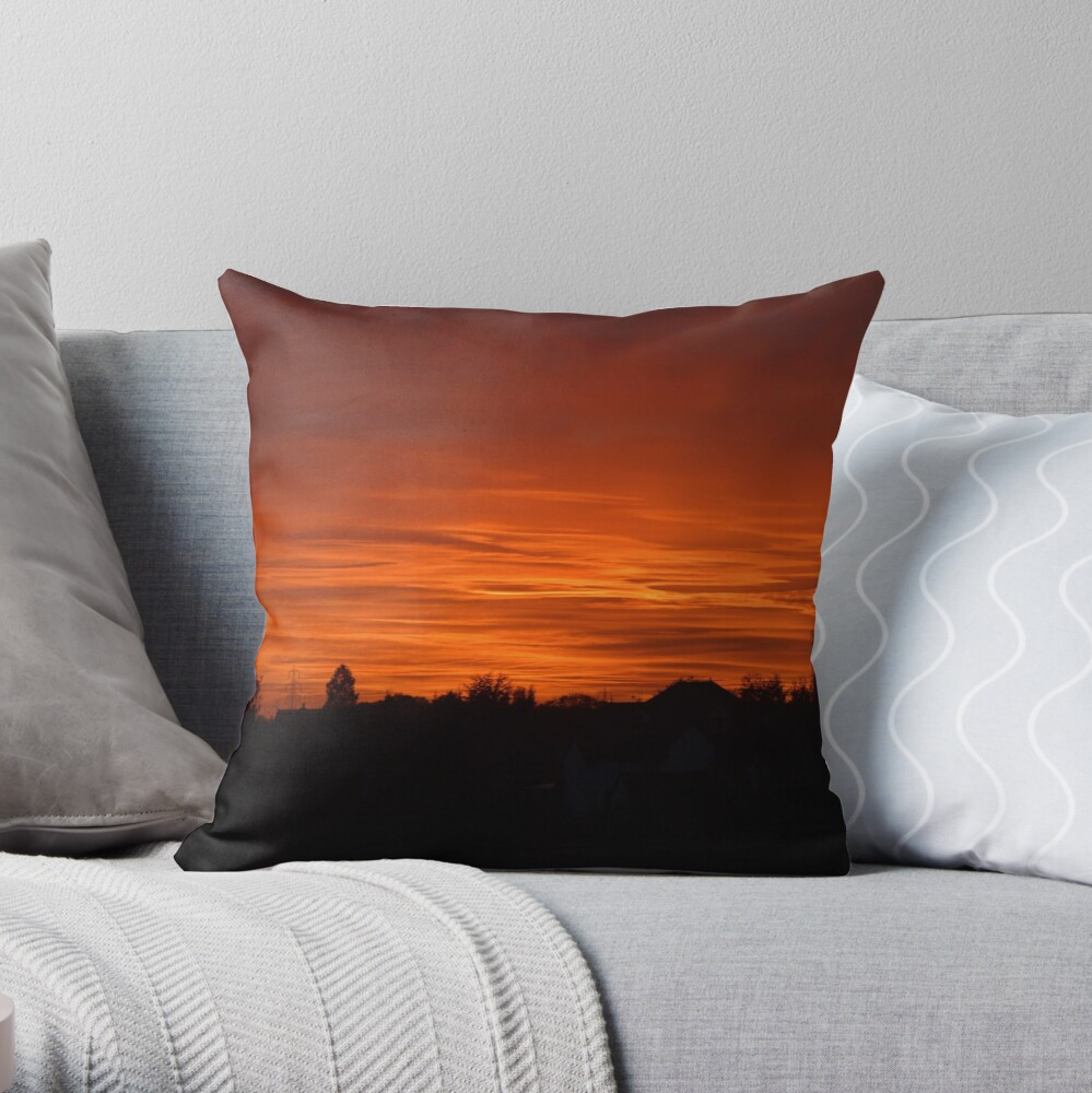 Jovian Sunset Throw Pillow