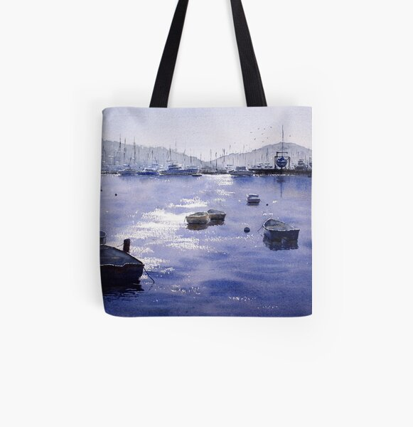Early Morning, Pittwater, NSW All Over Print Tote Bag