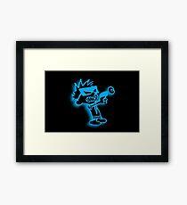 Spaceman Spiff - Black and Blue Framed Print
