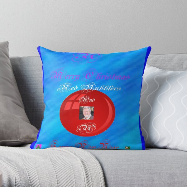A bubbly Christmas Throw Pillow