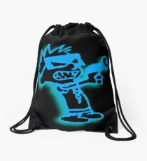 Spaceman Spiff - Black and Blue Drawstring Bag