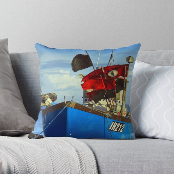 Aldeburgh fishing fleet return Throw Pillow