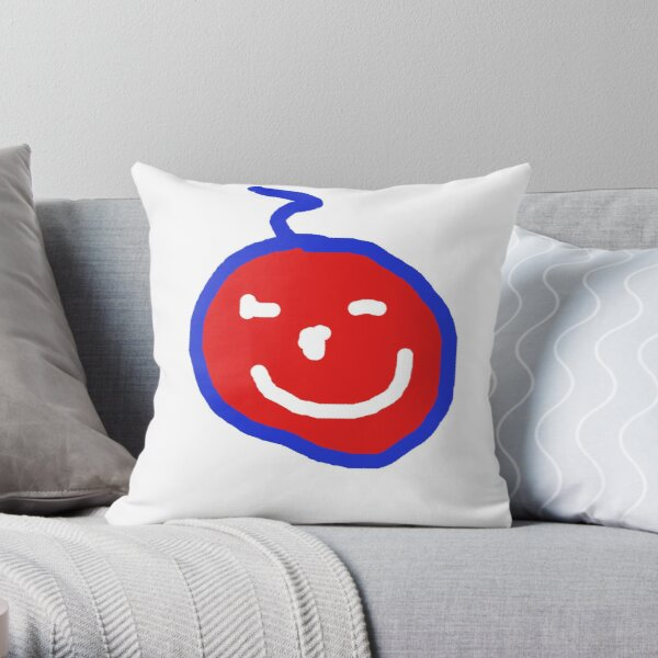 Smile! Your on red bubble:) Throw Pillow