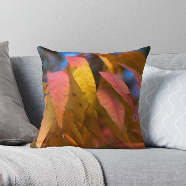 Flowing Fall Foliage Throw Pillow