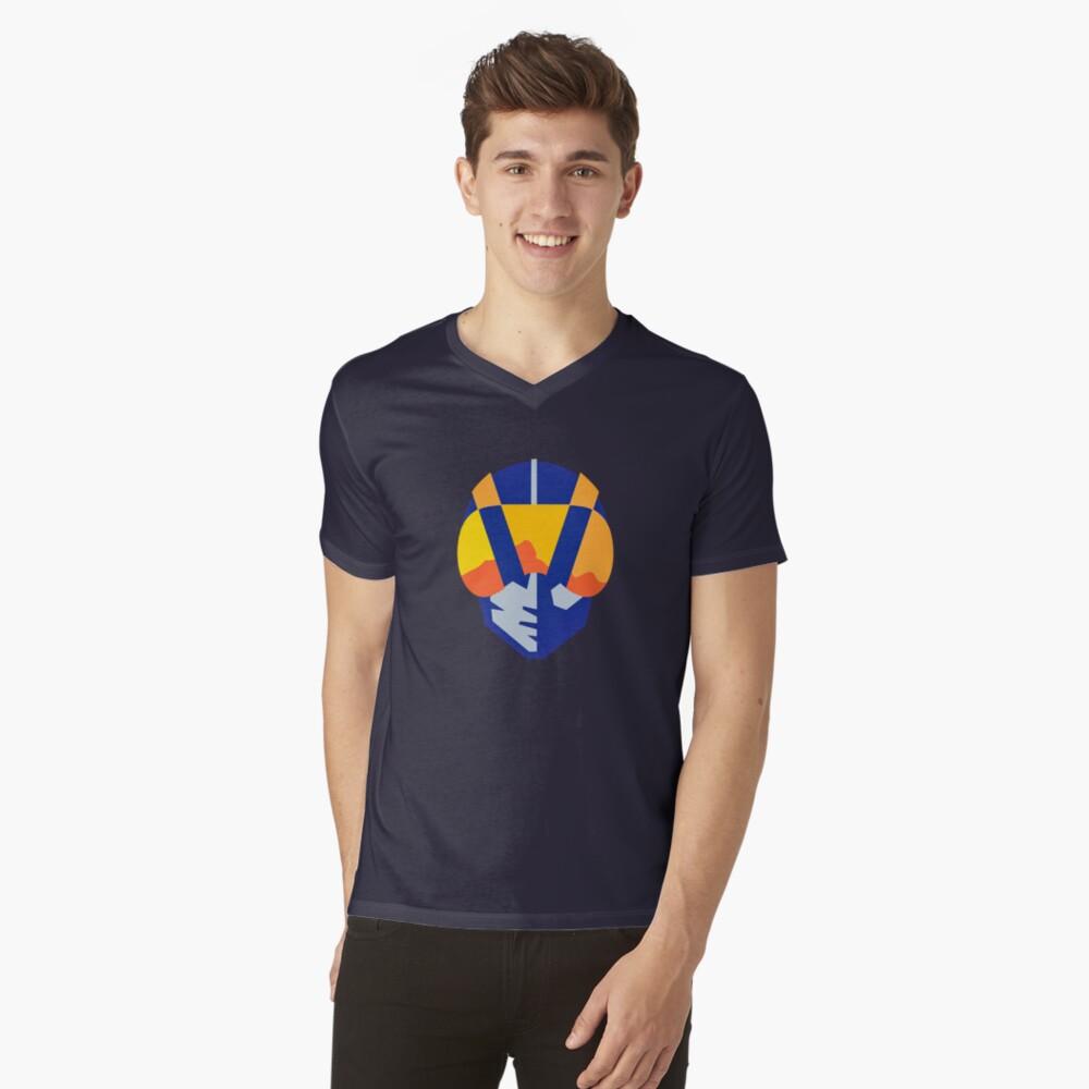 Blue Las Vegas aviators logo V-Neck T-Shirt
