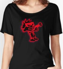 Spaceman Spiff - Red and Black Women's Relaxed Fit T-Shirt
