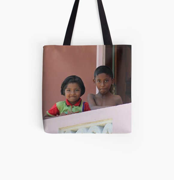 Mischievious eyes All Over Print Tote Bag