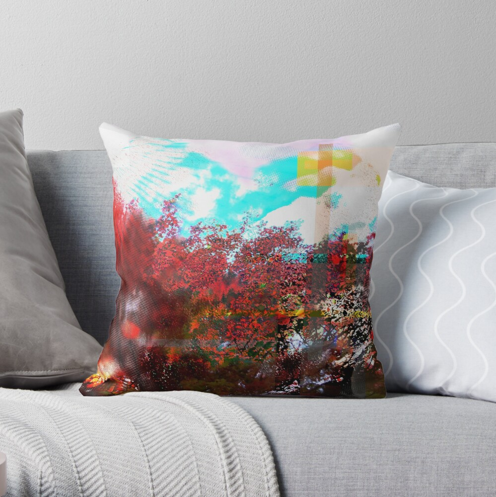 Earth Exploded in Autumn Throw Pillow