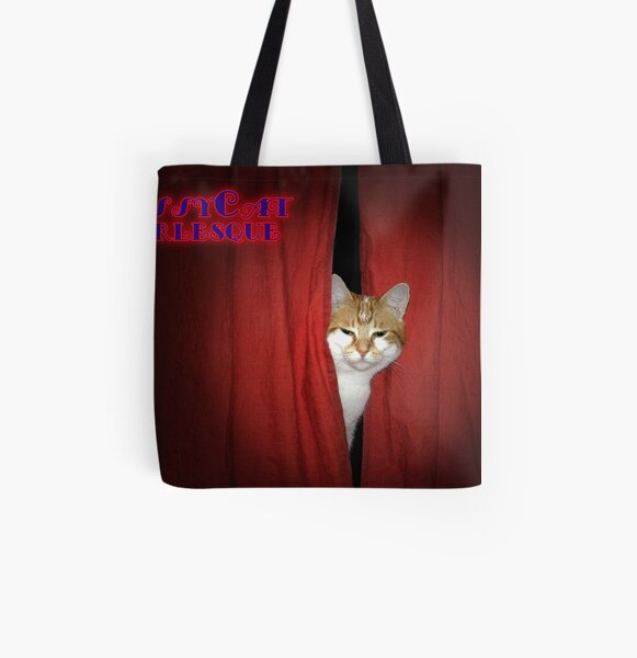 Pussycat Burlesque All Over Print Tote Bag