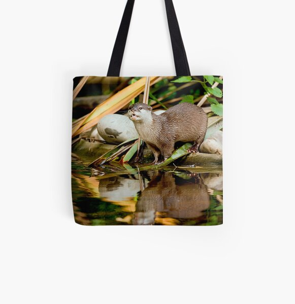 Oriental Small-clawed Otter All Over Print Tote Bag
