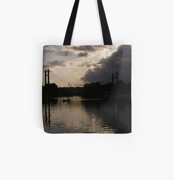 Looking Up Between Exeter Pubs All Over Print Tote Bag