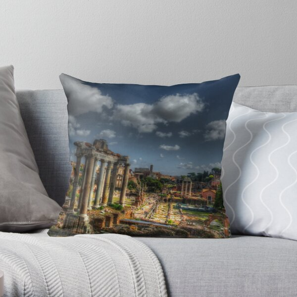 Roman Acheological Dig Throw Pillow