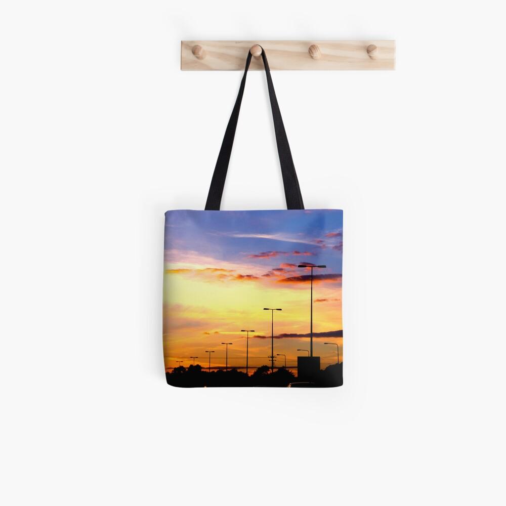 Sunset Lamp Posts Tote Bag