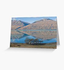 Ben Ohau reflected in Lake Ohau Greeting Card