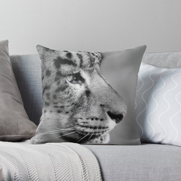 Kush .... Snow leopard Throw Pillow
