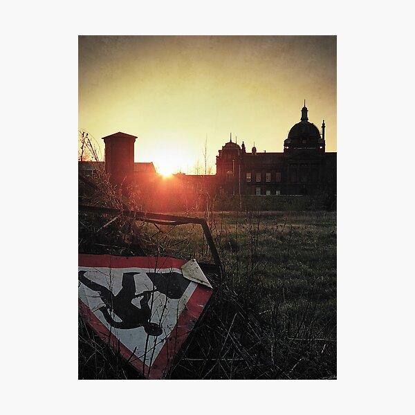 Glasgow Sunset Photographic Print