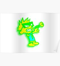 Spaceman Spiff - Green and Yellow Poster