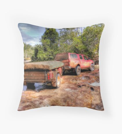 Rocky Creek Crossing Throw Pillow
