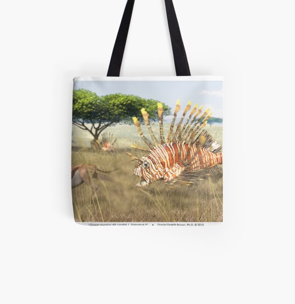 Ocean Invasion #9: Lionfish 1, Springbok 0 All Over Print Tote Bag