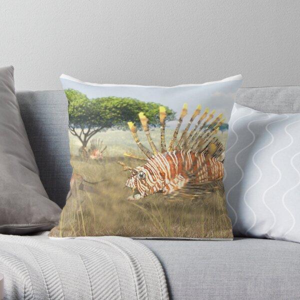 Ocean Invasion #9: Lionfish 1, Springbok 0 Throw Pillow