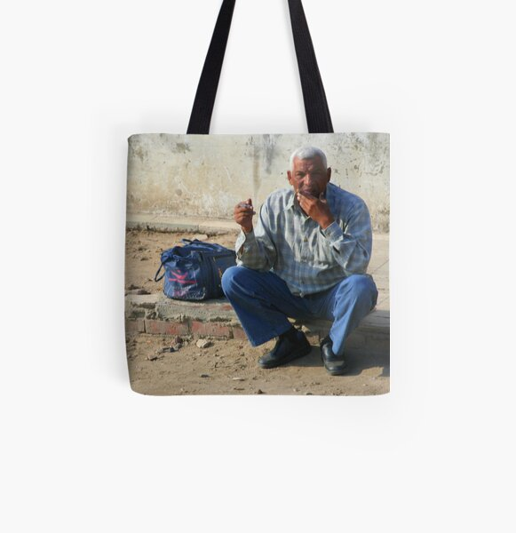 Waiting All Over Print Tote Bag