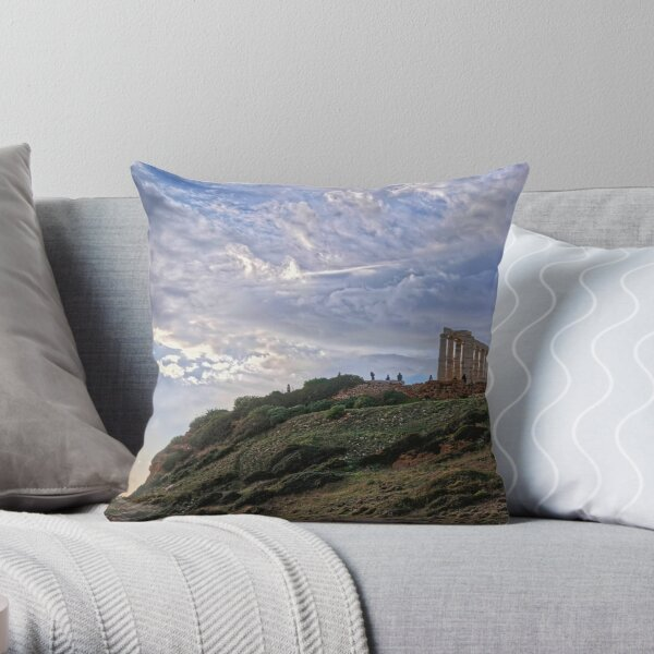 Cape Sounion - The Temple Throw Pillow