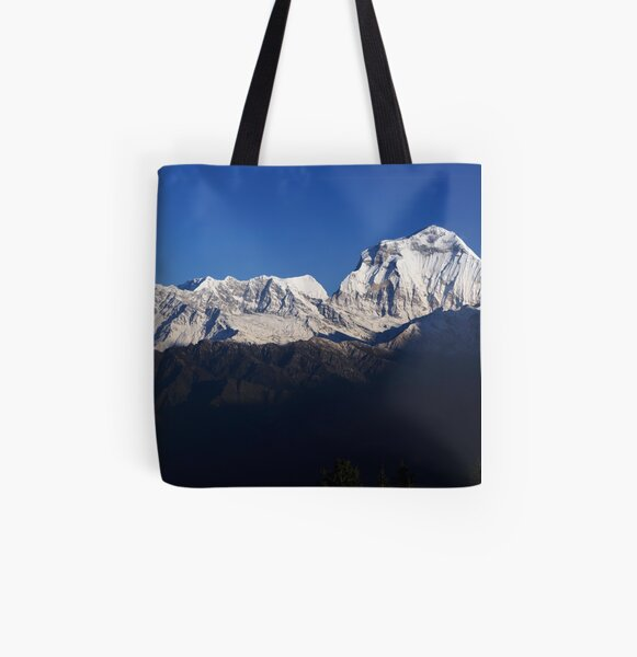 Dhauligiri Himal, Nepal. All Over Print Tote Bag