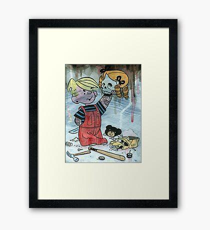 Dennis the Menace to Society Framed Print