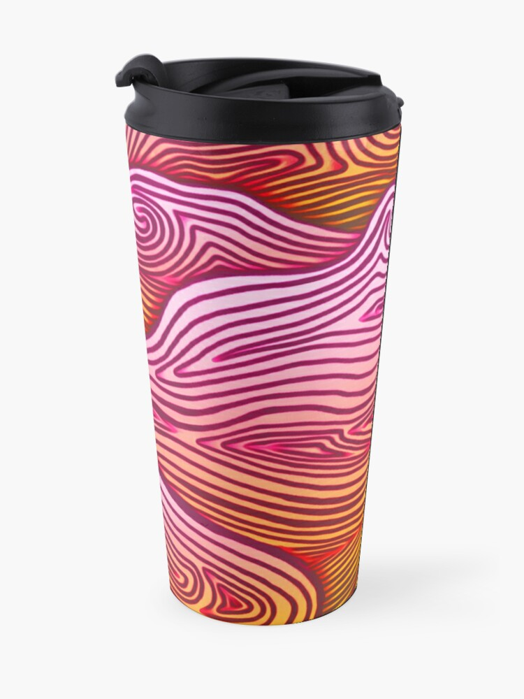 Alternate view of Clouds Swirling At Sunset Travel Mug