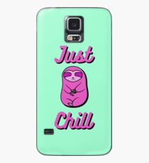 Chill Happy Cozy Pink Sloth Bear Hülle & Klebefolie für Samsung Galaxy