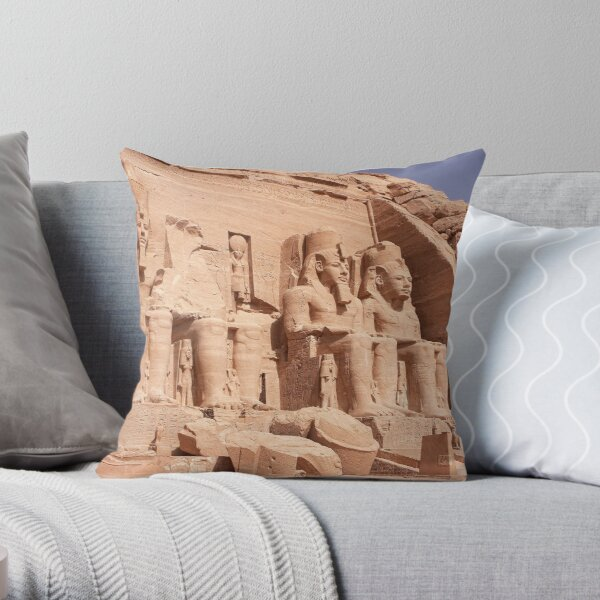 Abu Simbel Throw Pillow