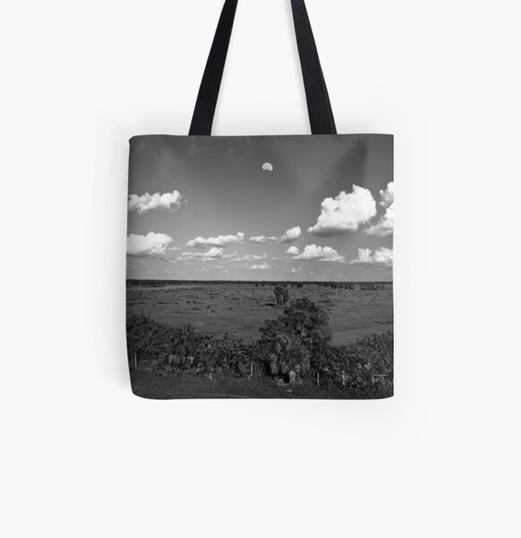 Moon Over Venice All Over Print Tote Bag