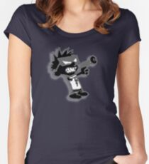 Spaceman Spiff - Black and Grey Women's Fitted Scoop T-Shirt