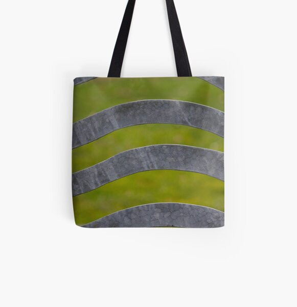 Waves of Steel All Over Print Tote Bag