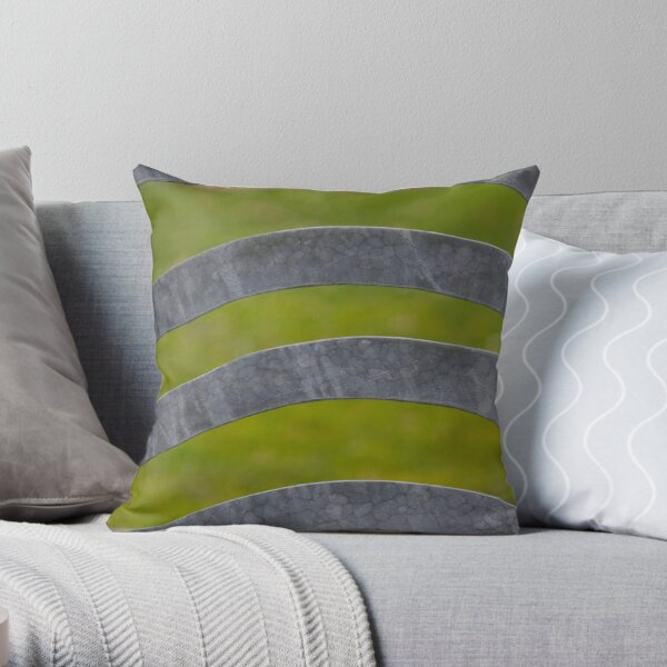Waves of Steel Throw Pillow