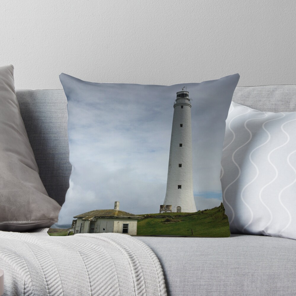 Cape Wickham Lighthouse Throw Pillow