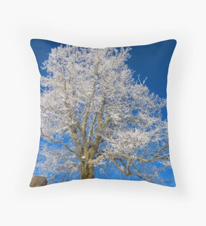 Against the Winter II Throw Pillow