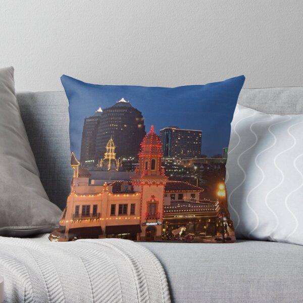Kansas City Plaza Lights - Christmas  Throw Pillow