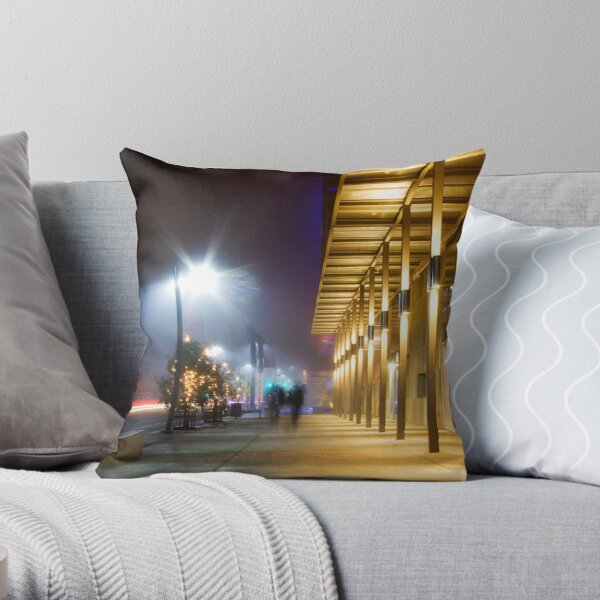 Shadows Passing Throw Pillow