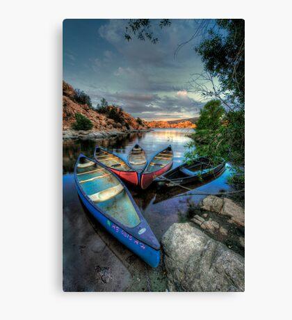 Rogue Canoes Canvas Print